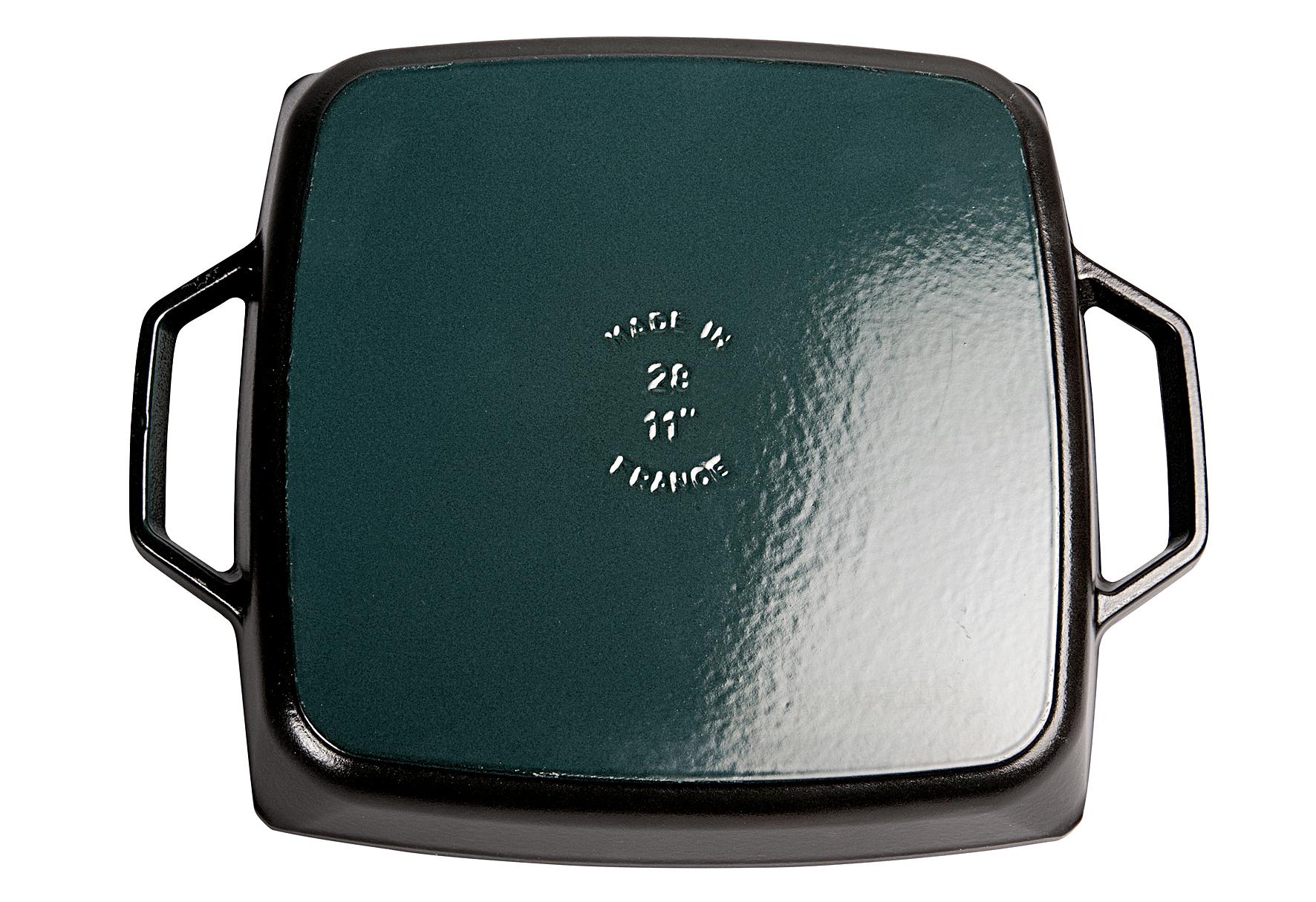 STAUB Grillpfanne mit 2 Griffen Gusseisen 28x28cm schwarz