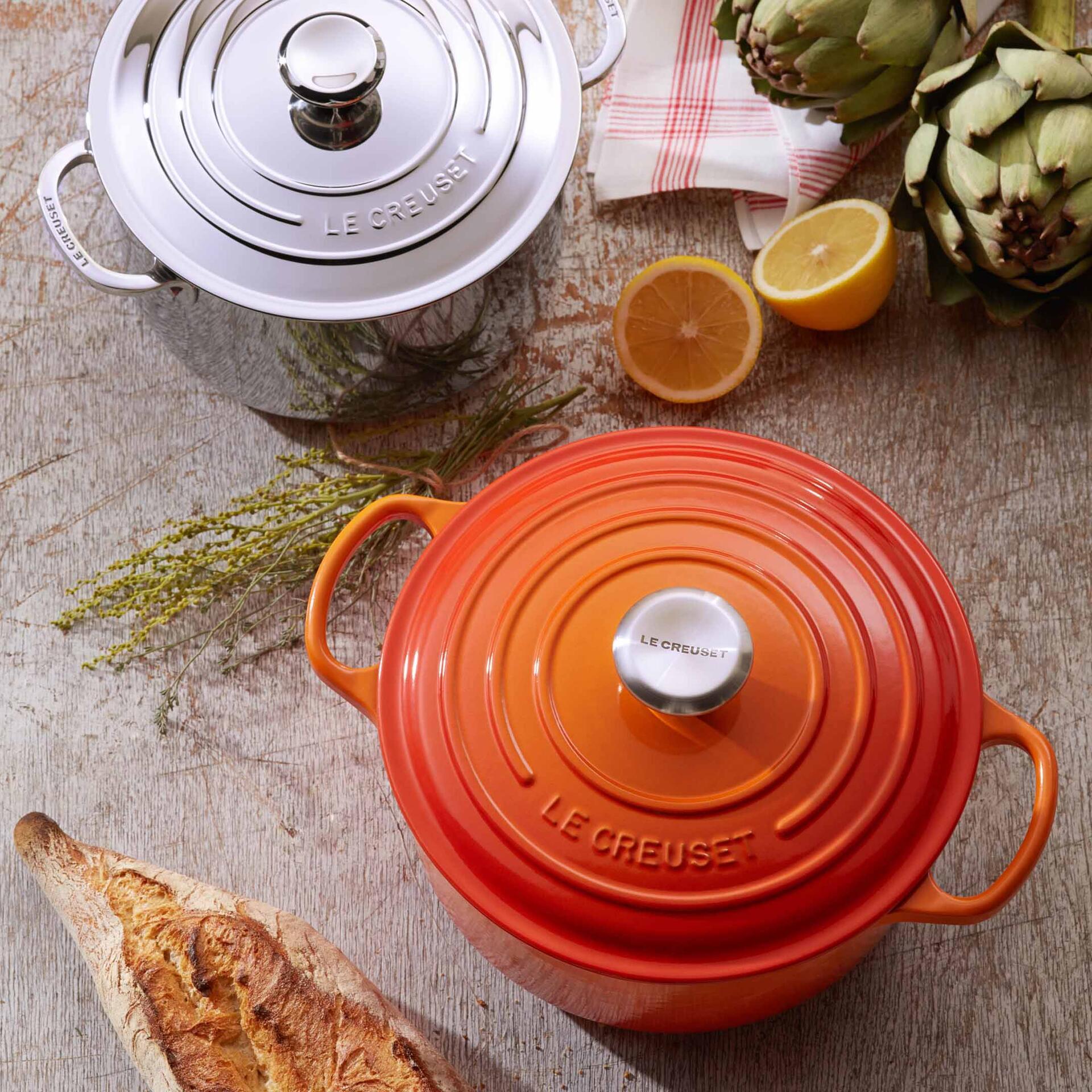 Le Creuset Gourmet-Bräter Signature 30 cm rund Ultra Violet 3,5 L