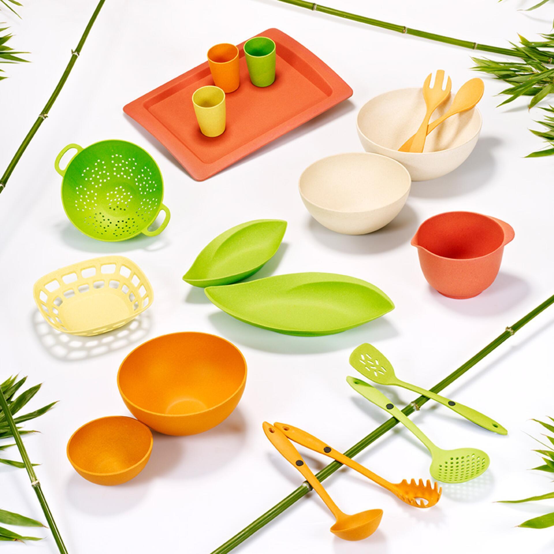 Magu Natur-Design Blattschale 30 cm Grün