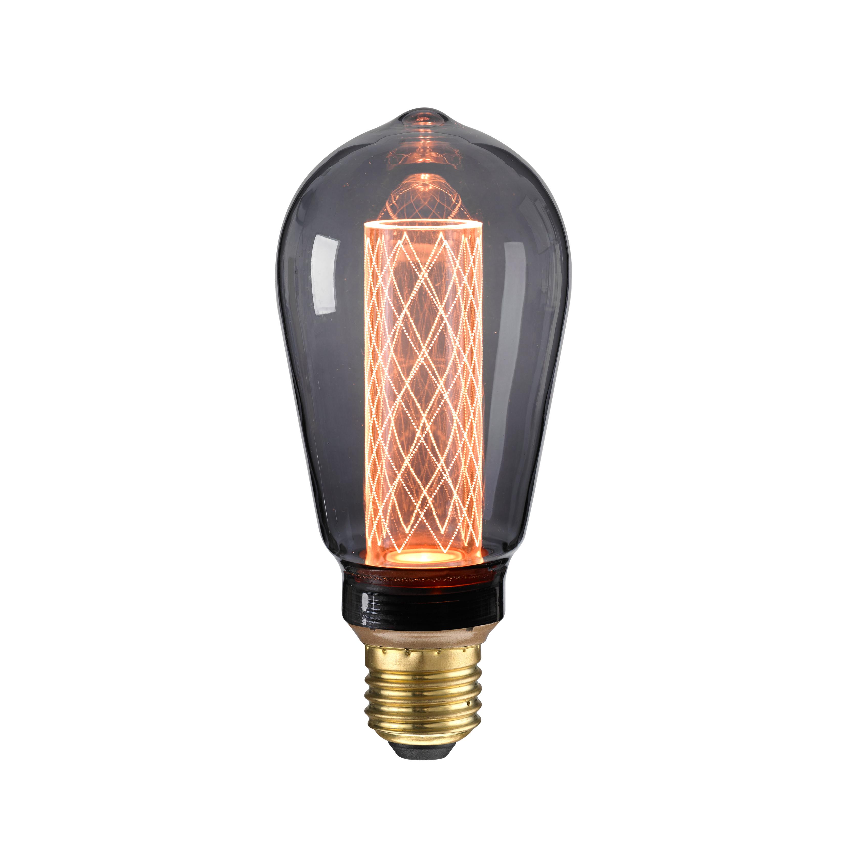 Nud LED Glühbirne Circus Black E27