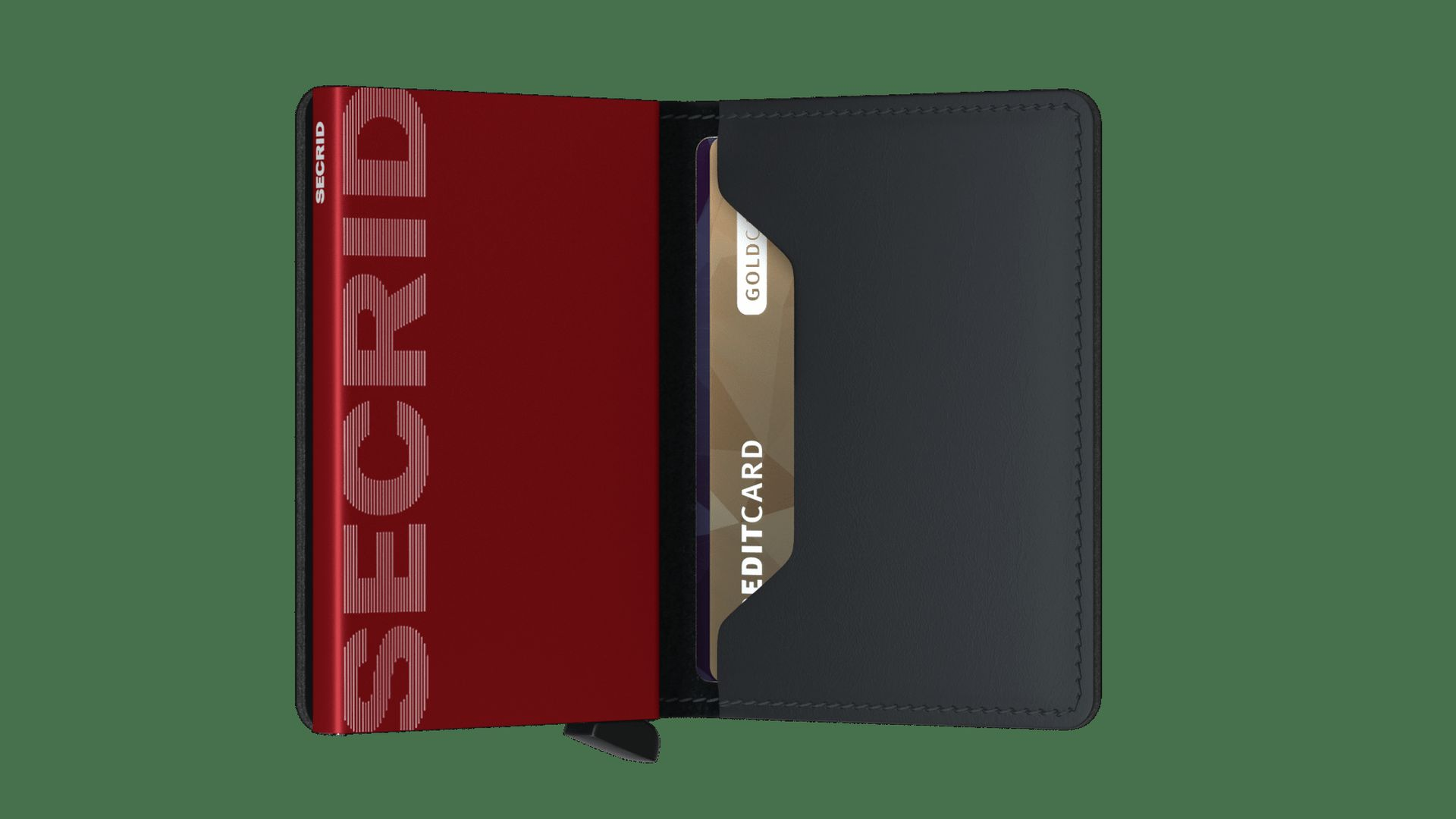 Secrid Slimwallet Matte Black & Red