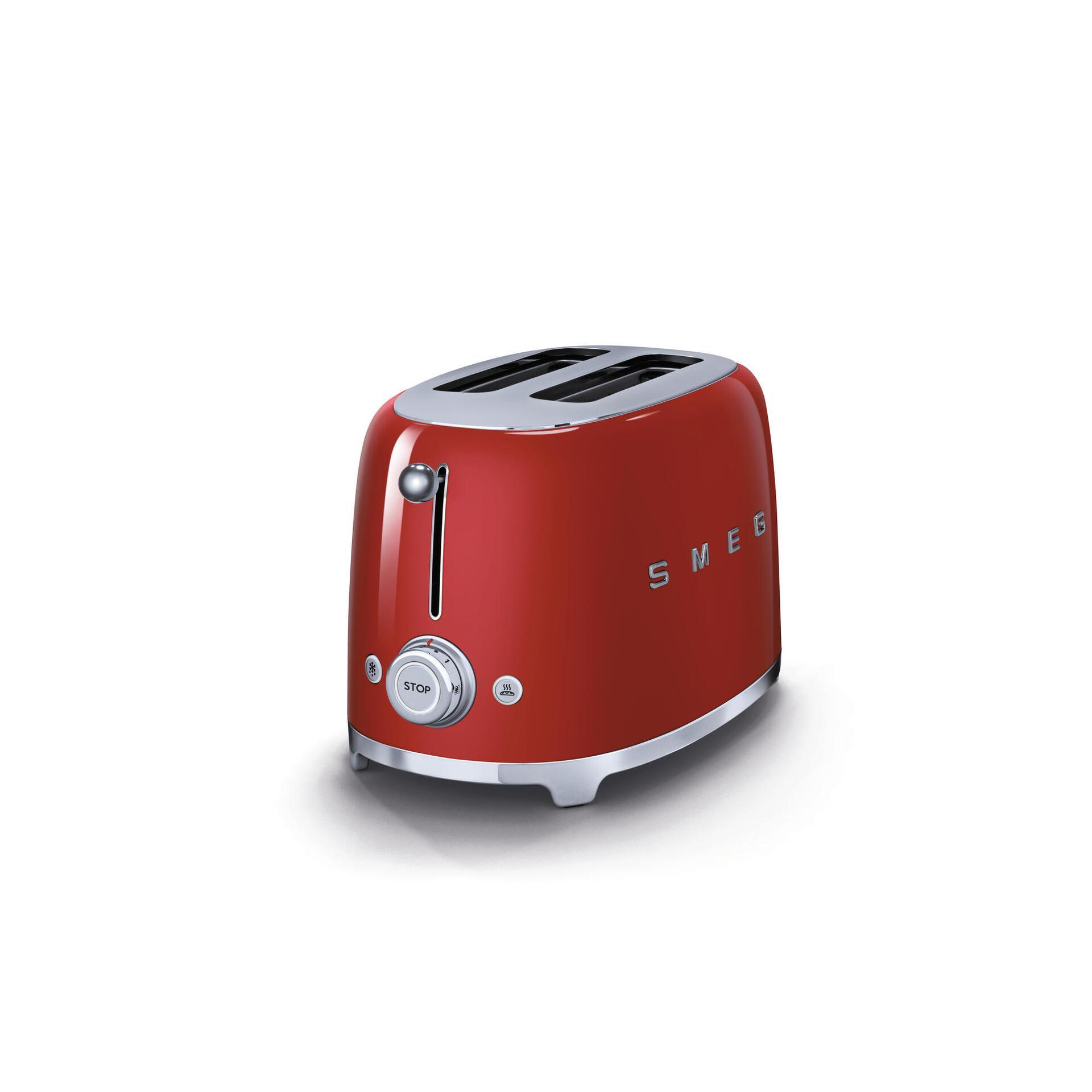 Smeg Retro 2-Scheiben-Toaster Rot