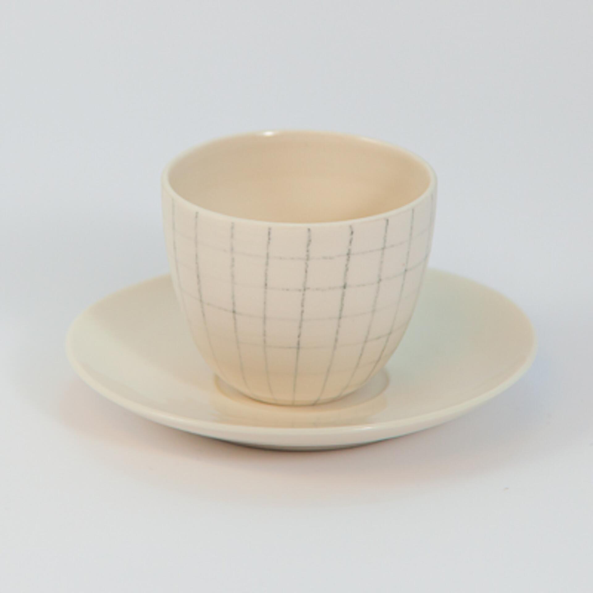 Schoemig Porzellan Espressotasse Graph Quadrat Klein